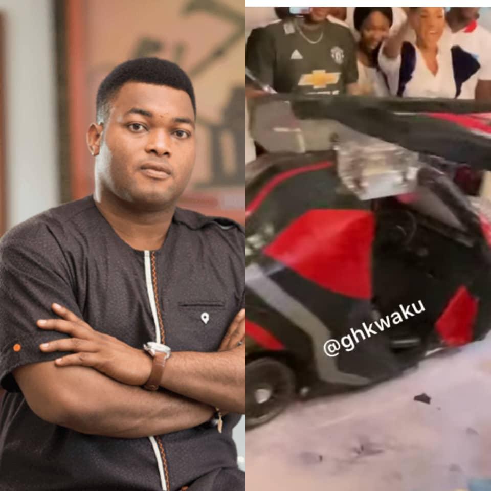 Kwadwo Safo Jnr's Birthday Car Cake Causes Stir On Social Media [Video]
