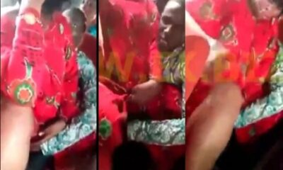 Woman Openly Allows A Man To f!nger Her  Till She Cums In A Trotro (Video)